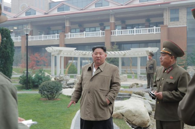 An undated photo released by KCNA on Friday shows Kim Jong Un (C), inspecting Yangdok County Hot Springs Resort in Yangdok County, South Pyongan Province, North Korea. Photo by KCNA/EPA-EFE