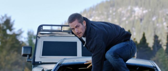 Paul Walker in a scene from Furious 7. (Universal Pictures.)