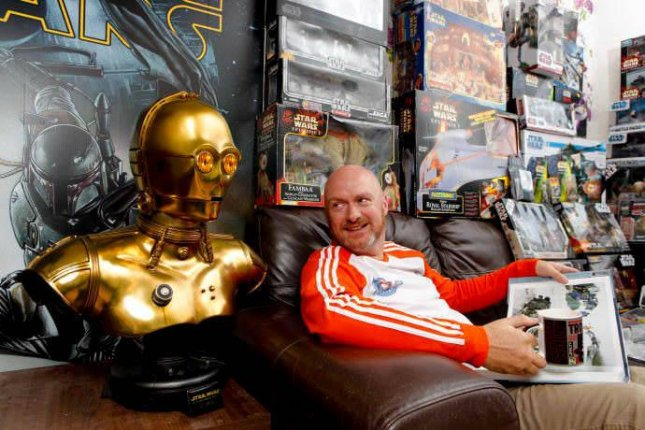 Dave Oldbury,46, posted a listing to accommodation site Homestay, offering fellow Star Wars fans the opportunity to rent a room in his Southampton home which contains a nearly $230,000 dollar Star Wars collection.
