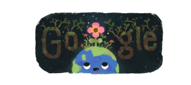 Google is honoring the arrival of the spring equinox for those living in the Northern Hemisphere with a new Doodle. Image courtesy of Google
