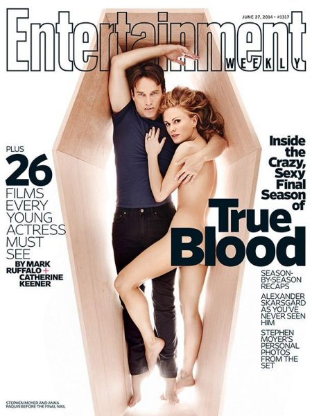 Stephen Moyer And Anna Paquin On The Cover Of Entertainment Weeklys June 27 2014 Issue Entertainment Weekly