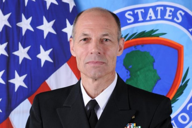 Vice Admiral Michael Franken, the top commander in U.S. Africa Command, said an Islamic State affiliate on Libya's northern Mediterranean coast is looking to export terror attacks into Europe and elsewhere. U.S. Navy photo