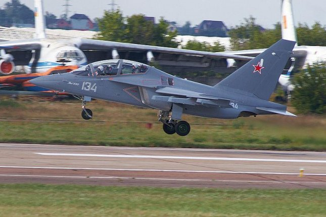 A Yak-130 is a jet trainer aircraft that can double as a light attack plane. Photo by Rulexip/Wikimedia Commons