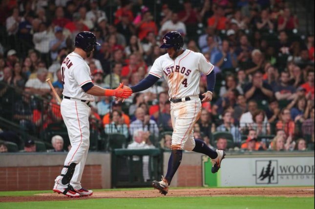 The Houston Astros won their fifth straight with a shutout of the Angels on Monday night. Photo courtesy Houston Astros via Twitter.