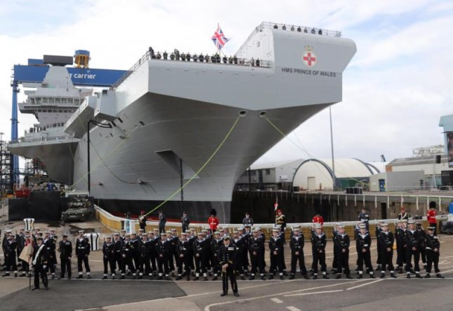 HMS Prince of Wales during her naming ceremony in Scotland. Photo courtesy of Ministry of Defense