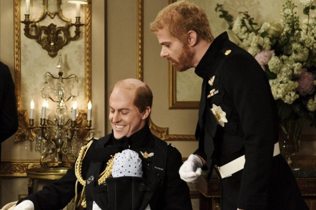 Alex Moffat as Prince William and Mikey Day as Prince Harry on Saturday Night Live Saturday. Photo by Will Heath/NBC