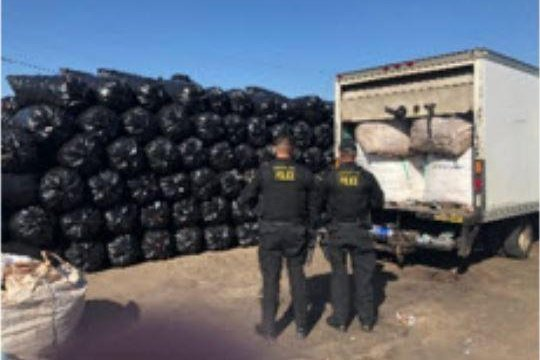 Law enforcement in California and Airzona busted a suspected $16.1 million recycling smuggling operation based out of Phoenix. Photo courtesy California Attorney General's Office