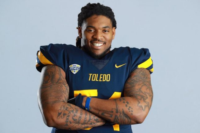 Toledo junior defensive tackle Jahneil Douglas was shot and killed Tuesday night in Toledo, Ohio. Photo courtesy of the University of Toledo