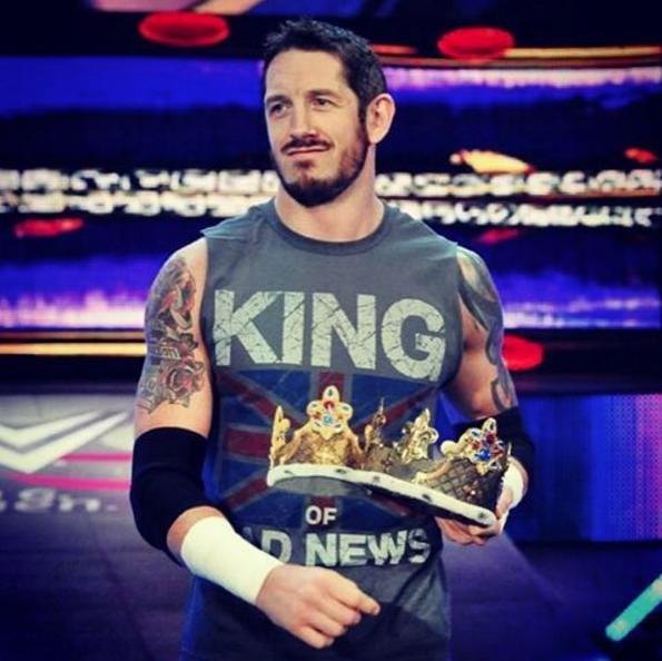 King Barrett has been released from contracts with WWE along with seven other fellow Superstars, including Cameron, Damien Sandow and Santino Marella. Photo courtesy of Barret/Instagram.