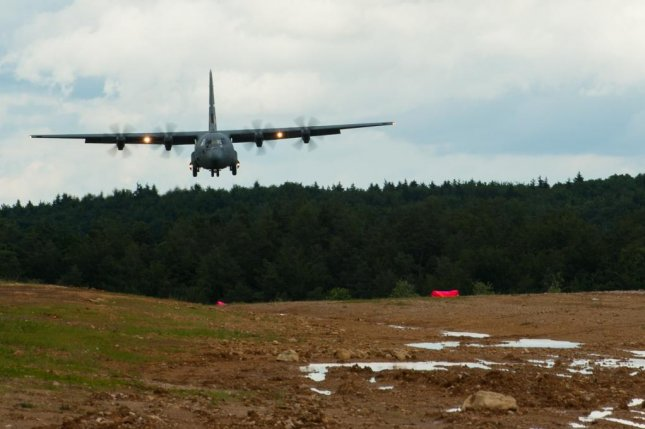 A C-130J Super Hercules touches down in Germany last month. Lockheed Martin has been awarded a $20 million U.S. Air Force contract modification for engineering change proposals on the C-130J. U.S. Air Force photo by Master Sgt. Joseph Swafford