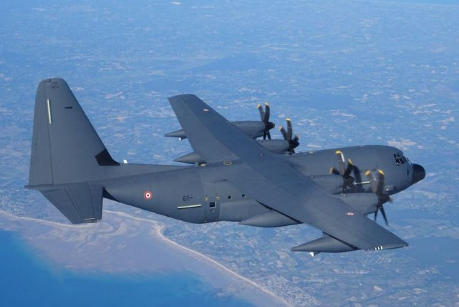 The first KC-130J Super Hercules refueling plane for the French air force arrived Thursday at Orleans-Bricy Air Base, France. Photo courtesy of French Ministry of Defense