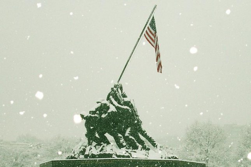 The Iwo Jima Memorial at the U.S. Marine Corps Museum in Quantico, Va. (CC/ wikimedia.org/ Xephrail)