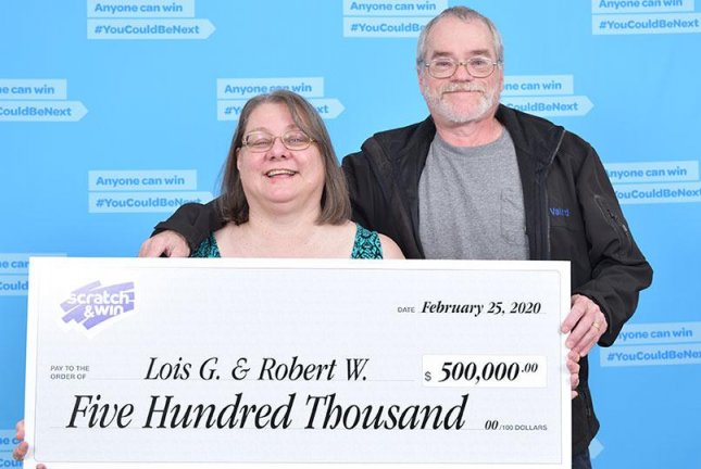 A British Columbia couple said their jackpot-winning lottery ticket was rescued from a box destined for their storage unit on moving day. Photo courtesy of the BCLC