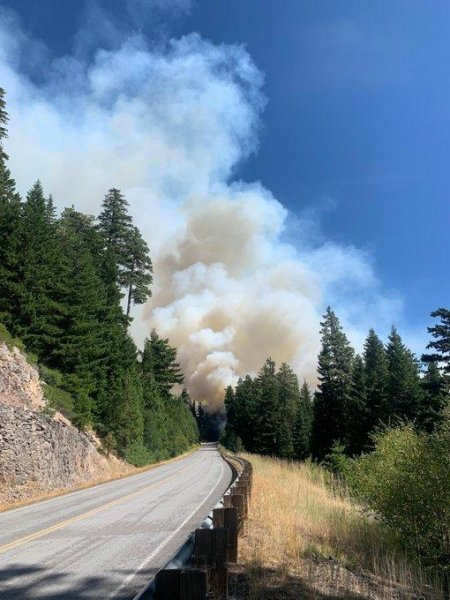 White River Fire, located on Mt. Hood National Forest, has grown to 1,289 acres and is 15% contained. White Photo courtesy Mt. Hood National Forest/Twitter