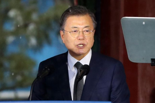 South Korean President Moon Jae-in called for a forward-looking relationship with Japan in a speech Monday commemorating the start of the March 1 Independence Movement. Photo by Yonhap