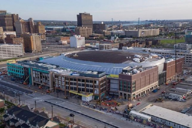 A 46-year-old electrical worker fell to his death on Wednesday from a catwalk inside the under-construction Little Caesars Arena. Photo courtesy of Olympia Entertainment