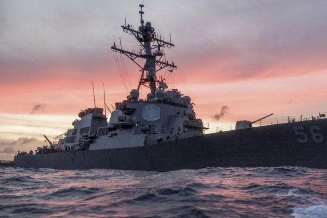The guided-missile destroyer USS John S. McCain joined vessels of the French Navy and the Japan Maritime Self-Defense Forces for exercises in the Philippine Sea. Photo by PO3 James Vazquez/U.S. Navy