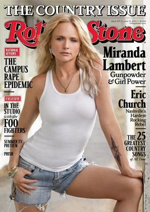 Miranda Lambert on the cover of Rolling Stone's 2014 country music issue. (Rolling Stone)