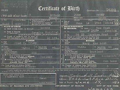 Trump offers \'official\' birth certificate - UPI.com