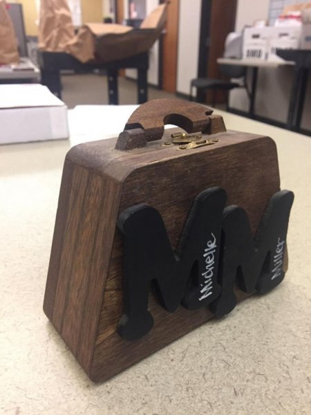Police in Vancouver, Wash., are trying to track down whoever gave a Goodwill thrift store a wooden box that was found to be an urn containing cremated human remains. Photo courtesy of the Vancouver Police Department