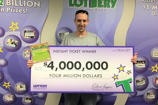 A Tennessee Lottery player said he didn't realize his $4 million lottery ticket was a winner until he tried to enter it in a second chance promotion. Photo courtesy of the Tennessee Lottery