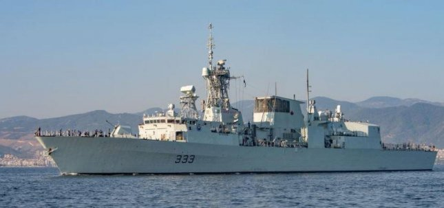 The Royal Canadian Navy frigate HMCS Toronto led the Standing NATO Maritime Group Two fleet of warships into the Black Sea on Wednesday. Photo courtesy of HMCS Toronto/Facebook