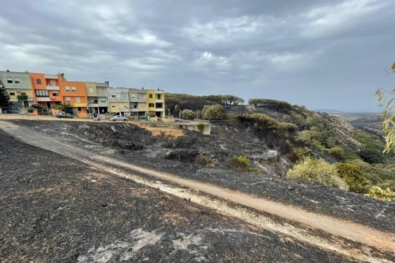 Fires burn in the Scano di Montiferro commune, in the province of Oristano, Sardinia Island, Italy, on Saturday. Photo by Manuele Scordo/EPA-EFE