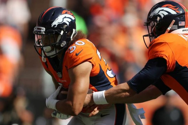Denver Broncos rookie running back Phillip Lindsay (30) became the first undrafted free agent in NFL history to record 100-plus scrimmage yards in each of his first two games on Sunday. Photo courtesy of Denver Broncos official website