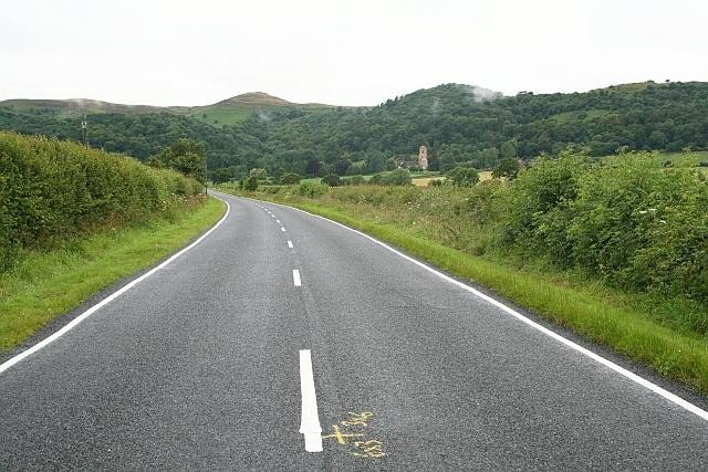 Image result for painting lines on a country highway