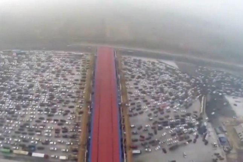 Watch: Drone footage of Chinese 'carpocalypse' - UPI.com