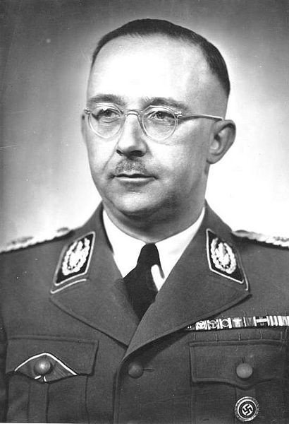 Heinrich Himmler, courtesy of the German Federal Archive via Wikimedia Commons.