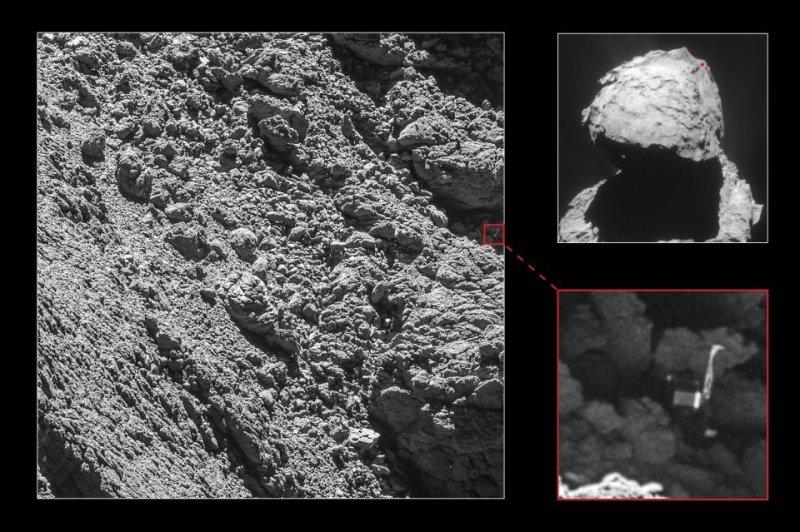 ESA finds Philae, Rosetta's lost lander on comet