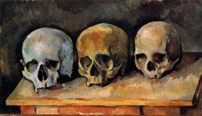 Still Life, Three Skulls c. 1900 by Paul Cézanne, currently located at the Detroit Institute of Arts. (CC/PD)