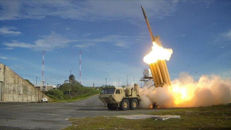 The firing of a THAAD interceptor against an intermediate-range ballistic missile. Photo by U.S. Army, Ralph Scott/Missile Defense Agency/U.S. Department of Defense