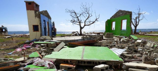 Extreme weather events have increased over the last two decades, a new report shows. Fiji is shown after being hit by a cyclone in 2016. File Photo by OCHA/Danielle Parry