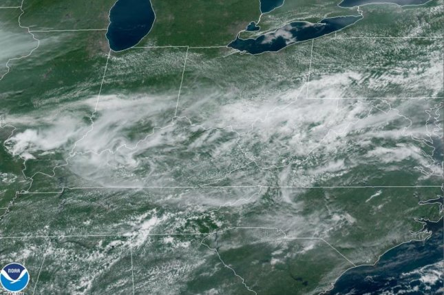 Image shows clouds associated with an advancing storm system in the Ohio Valley and northeastern United States. Photo courtesy National Oceanic and Atmospheric Administration