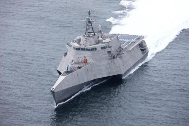 The future USS Oakland, the Navy's newest littoral combat ship, was accepted for delivery by the Navy in ceremonies on Friday in Mobile, Ala. Photo courtesy of Austal USA