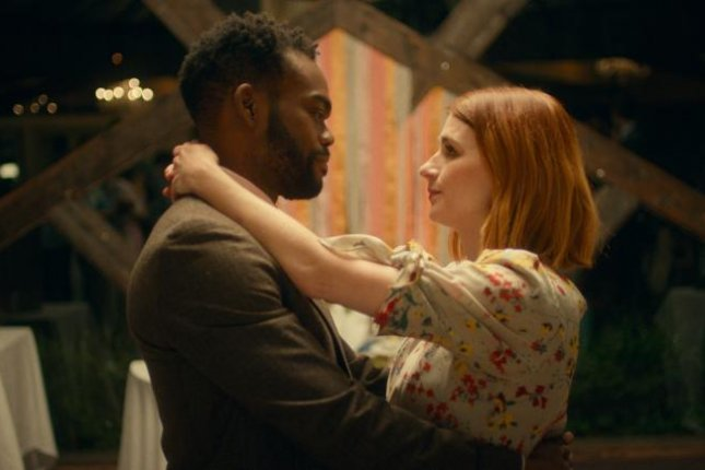 William Jackson Harper and Aya Cash pretend they're still together in We Broke Up. Photo courtesy of Vertical Entertainment