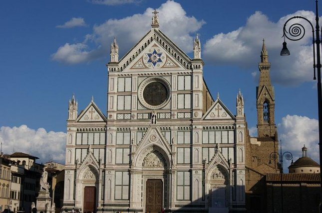A Spanish tourist died Thursday while visiting the Basilica di Santa Croce in Florence, Italy. File Photo by Alexandrvendetta/Wikipedia