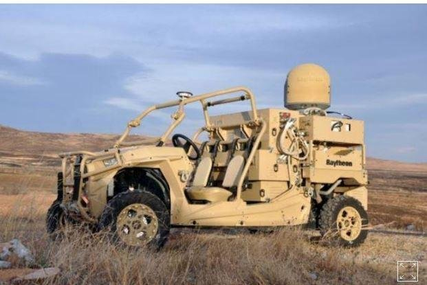 Dozens of drones were successfully brought down using guided lasers and microwaves from a movable platform aboard an all-terrain vehicle in a U.S. Air Force test. Photo courtesy of US. Air Force