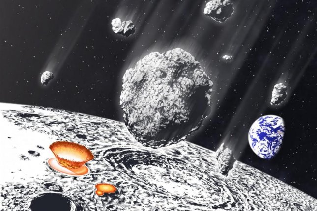 A survey of lunar craters suggest an asteroid shower bombarded the Earth-moon systems 800 million years ago. Photo by Murayama/Osaka University