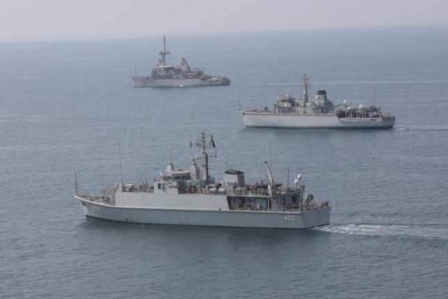 Navy ships of the United States, Britain and Saudi Arabia participated in mine countermeasures exercises in the Arabian Gulf in November, the U.S. Navy said on Sunday. Photo courtesy of U.S. Navy