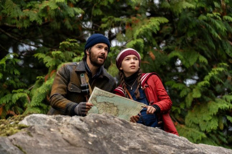 Matt (Jim Sturgess) and Hilde Lisko (Brooklynn Prince) investigate Wott Management in Home Before Dark. Photo courtesy of Apple