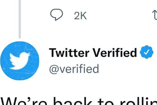 Verified accounts on Twitter, those with the blue checkmark, typically belong to public figures like government officials, celebrities and social media influencers with many followers. Image via Twitter