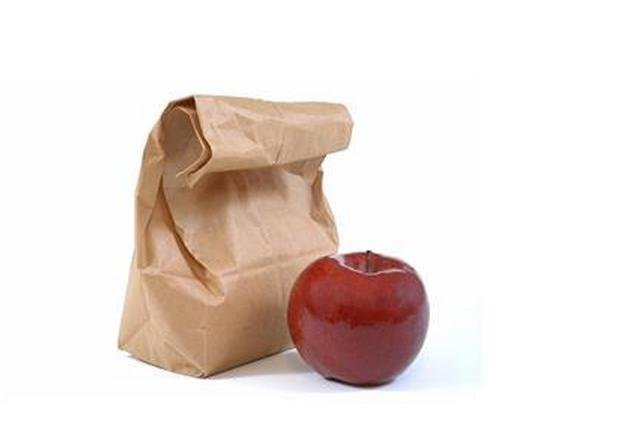 A bagged lunch, shown as part of a brown-bag lunch campaign in North Dakota. (Credit North Dakota Department of Health)