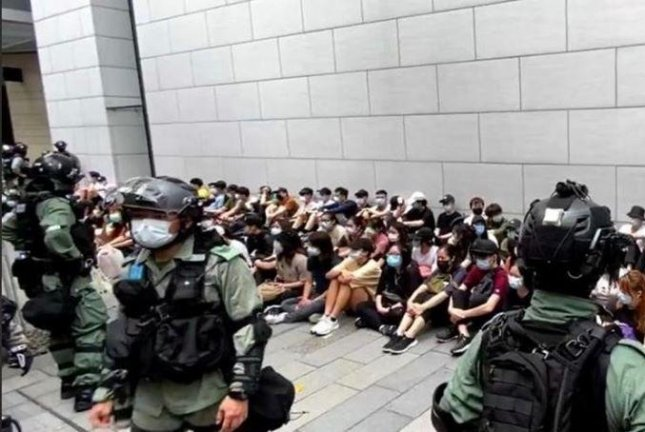 At least 180 people were arrested in Hong Kong Wednesday as protests erupted over a controversial national security law. Photo courtesy Hong Kong Police/Facebook