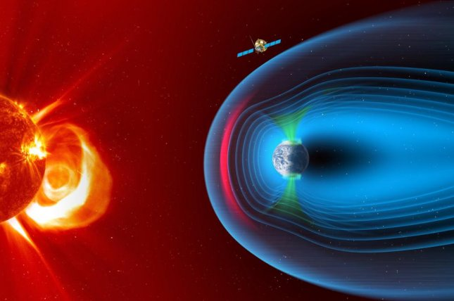 The SMILE spacecraft will observe Earth's magnetosphere from a vantage point of a third of the distance to the moon. Photo by ESA