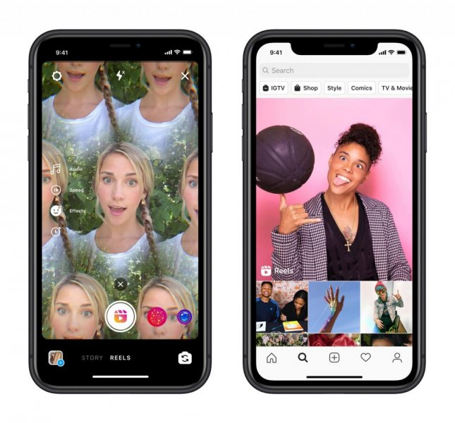 Instagram on Wednesday introduced Reels an apparent competitor to the TikTok app as the latter faces a threat of being banned in the United States. Photo by Instagram