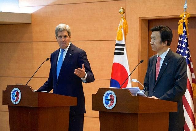 During a press conference in Seoul on Monday, U.S. Secretary of State John Kerry said stricter sanctions would be placed on North Korea if Pyongyang does not fulfill its commitment to denuclearize. Photo by U.S. Department of State/Flickr