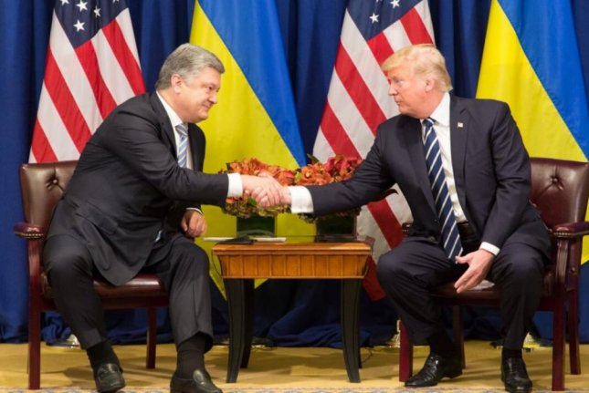 President Donald Trump meets with Ukraine President Petro Poroshenko at the United Nations General Assembly in New York City on Thursday. Photo courtesy the White House